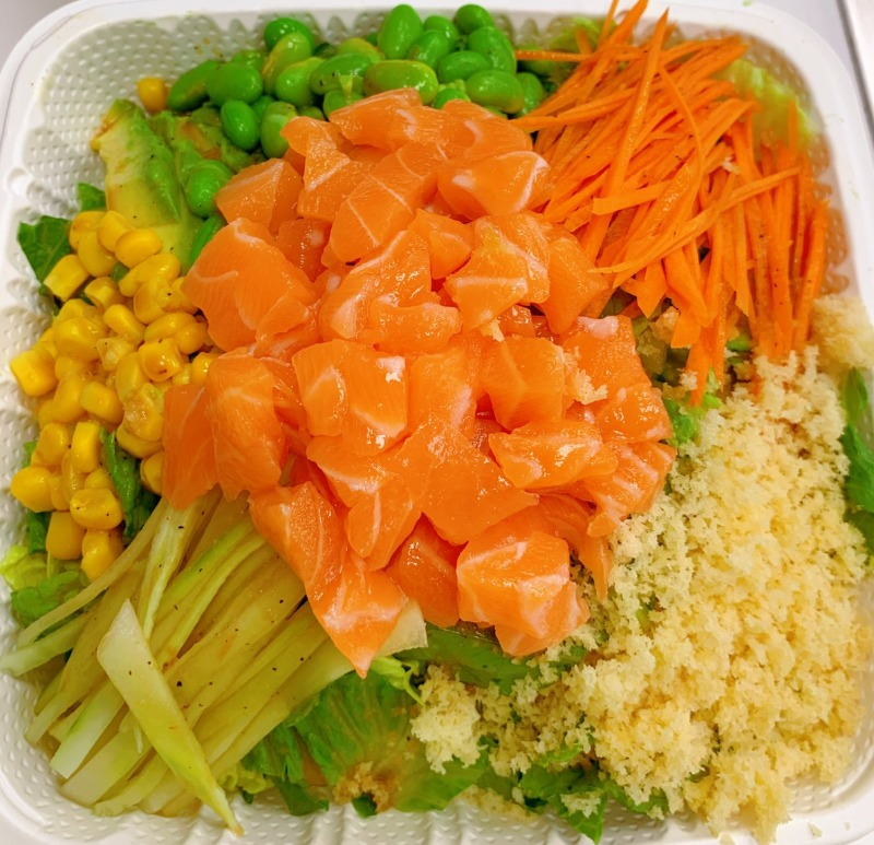 10. Raw Salmon w. Spicy Mayo and Eel Sauce Image