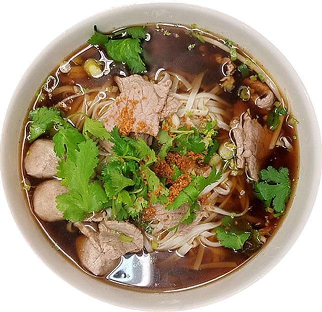 Beef & Meatballs Noodle Soup Image