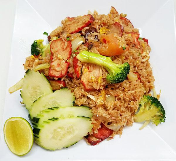 Roast Pork & Sausage Fried Rice Image