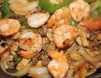 Fajitas Agave All Together Shrimp,Steak,Chicken For 12
