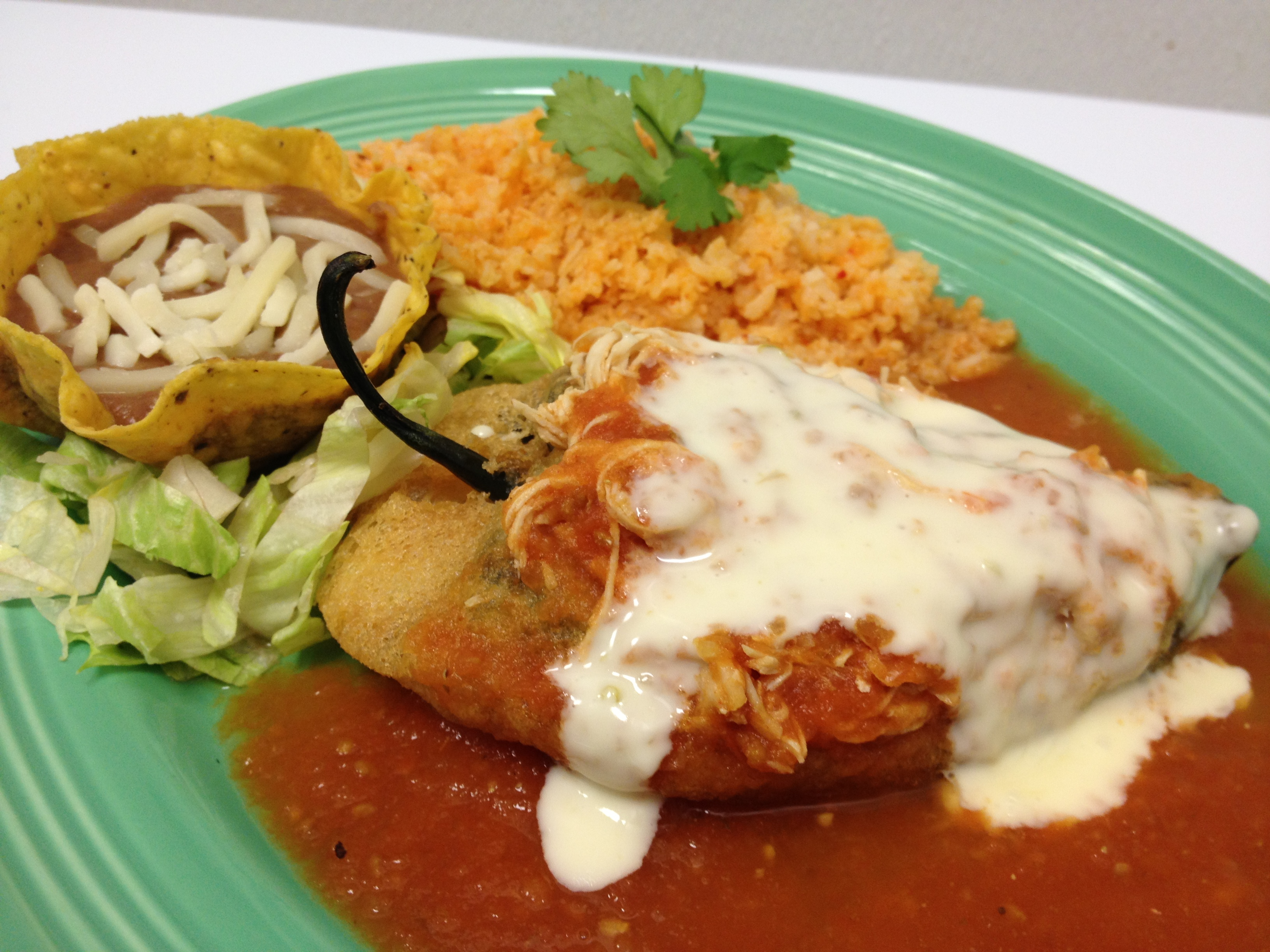 Chile Relleno beef, Cheese Or Chicken For 25