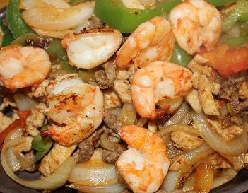 Fajitas Agave All Together Shrimp,Steak,Chicken For 50 Image