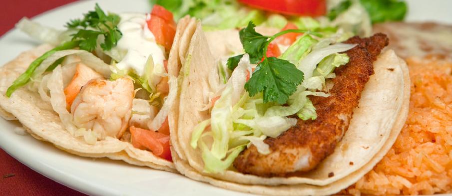 Fish Or Shrimp Tacos (Flour Tortilla) Image