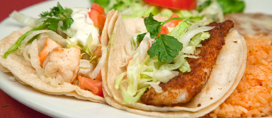 Fish Or Shrimp Tacos (Flour Tortilla) Image