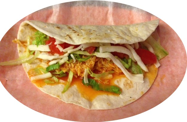 Soft Shreded Chicken Taco Image