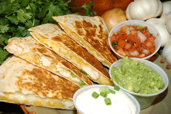 Quesadillas Beef Or Shredded Chicken for 6