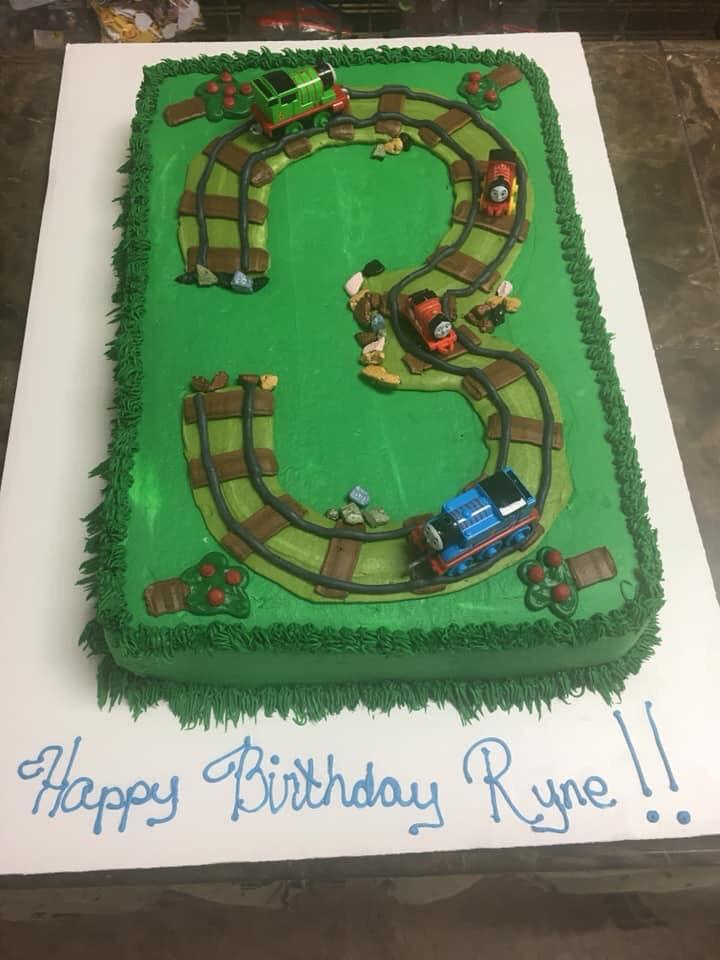 Railroad Sheet Cake, Happy Birthday Ryne!!