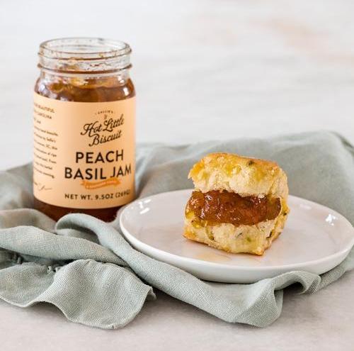 Peach Basil Jam - 9.5 oz Jar