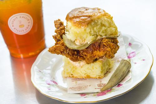 Friday: Fried Chicken Biscuit Image