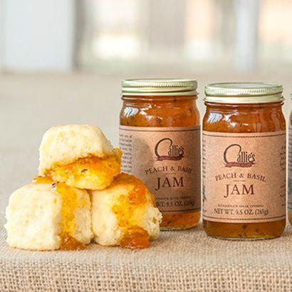 Homemade Peach Basil Jam