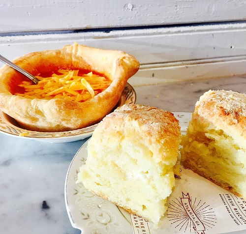 Everyday: Spicy Tomato Soup in a Biscuit Bowl