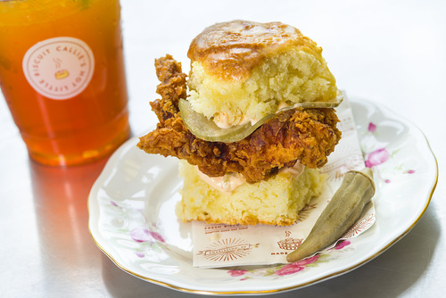 Fried Chicken Biscuit Sandwich Image