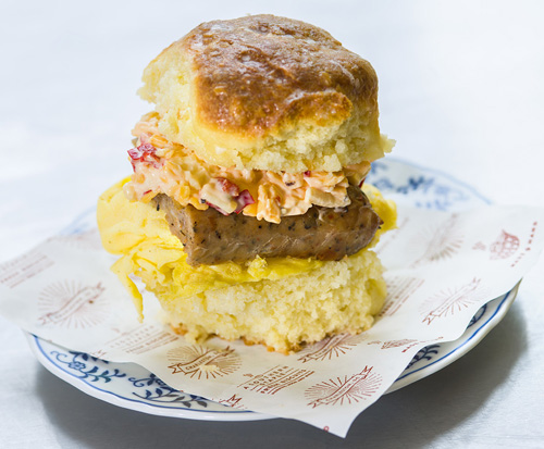 Sausage, Egg and Pimento Cheese Image