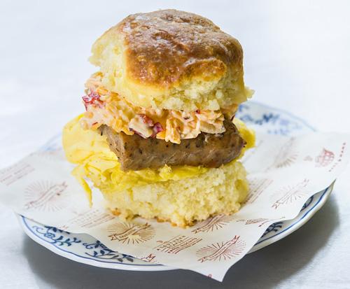 *Sausage, Egg & Pimento Cheese Image