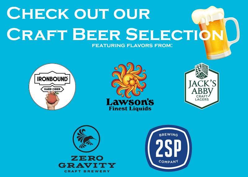 Craft Beers & Cider (Carryout & Curbside Only)