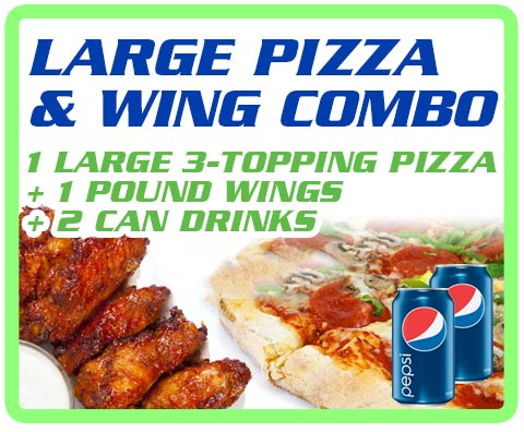 Large Pizza and Wing Combo