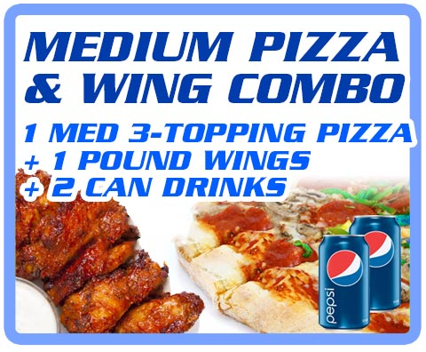 Medium Pizza & Wing Combo