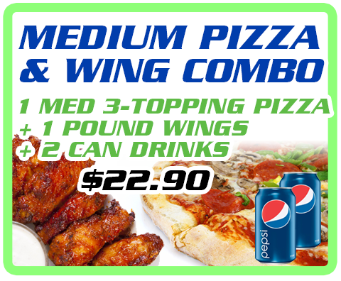 Medium Pizza & Wing Combo Image