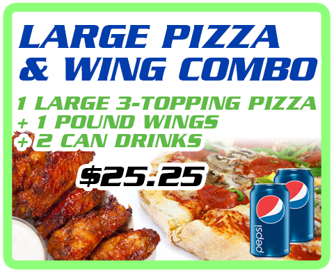 Large Pizza & Wing Combo Image