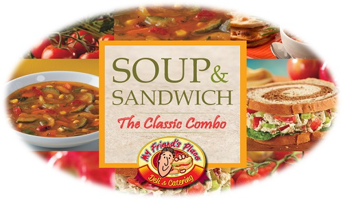 CUP SOUP AND HALF SANDWICH Image