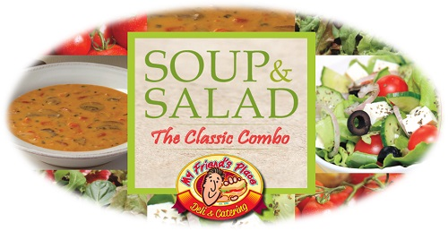 CUP OF SOUP AND HALF SALAD Image
