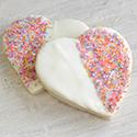 Heart Sugar Cookie with Sprinkles