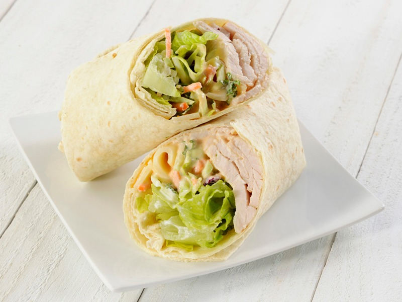 Turkey, Swiss & Slaw Wrap