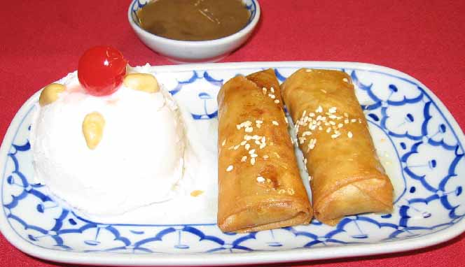 Fried Banana (2) & Ice Cream  Image
