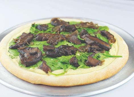 Mushroom Alfredo Pizza Image