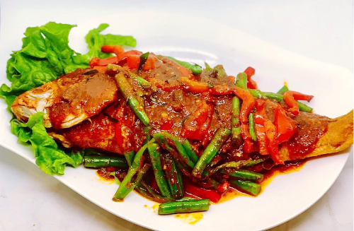 Q1. Whole Crispy Red Snapper  W/ Prik Khing Sauce Image