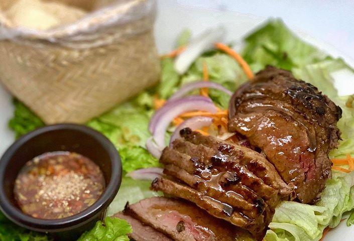 E2. BBQ Tender Beef (Nuer Yang Nam Jim Jaew)