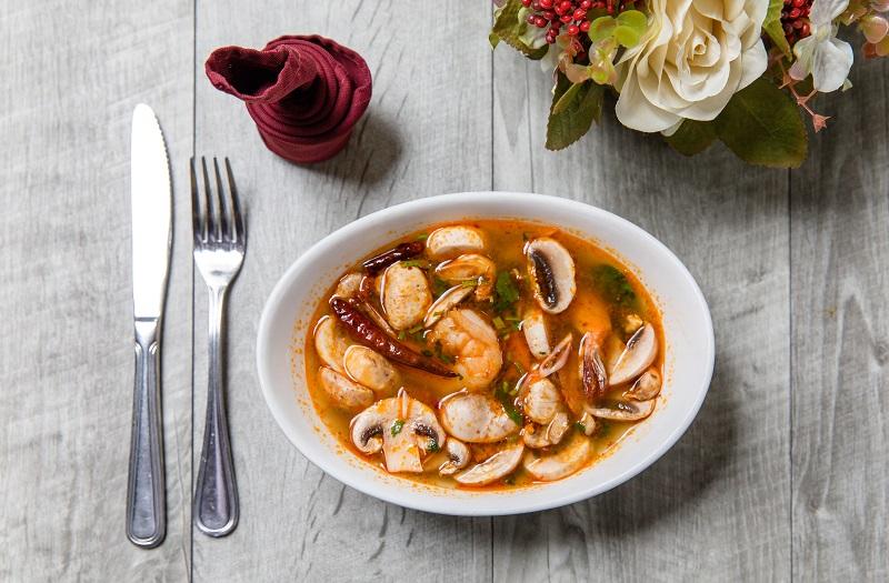 Grilled Shrimp Soup
