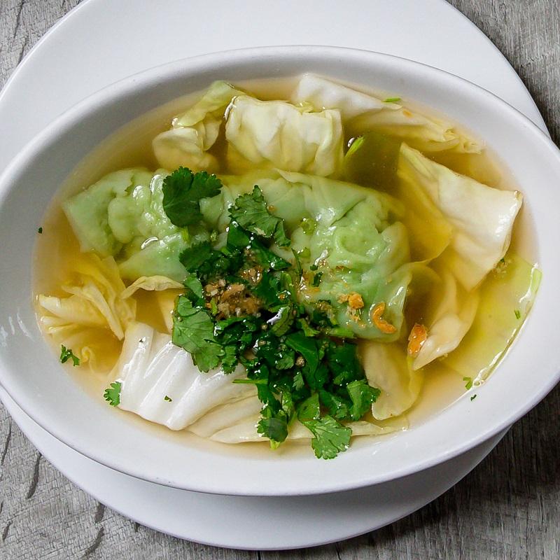 Green Wonton Soup Image