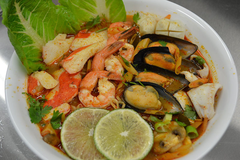 N6. Seafood Tom Yum Ramen Soup