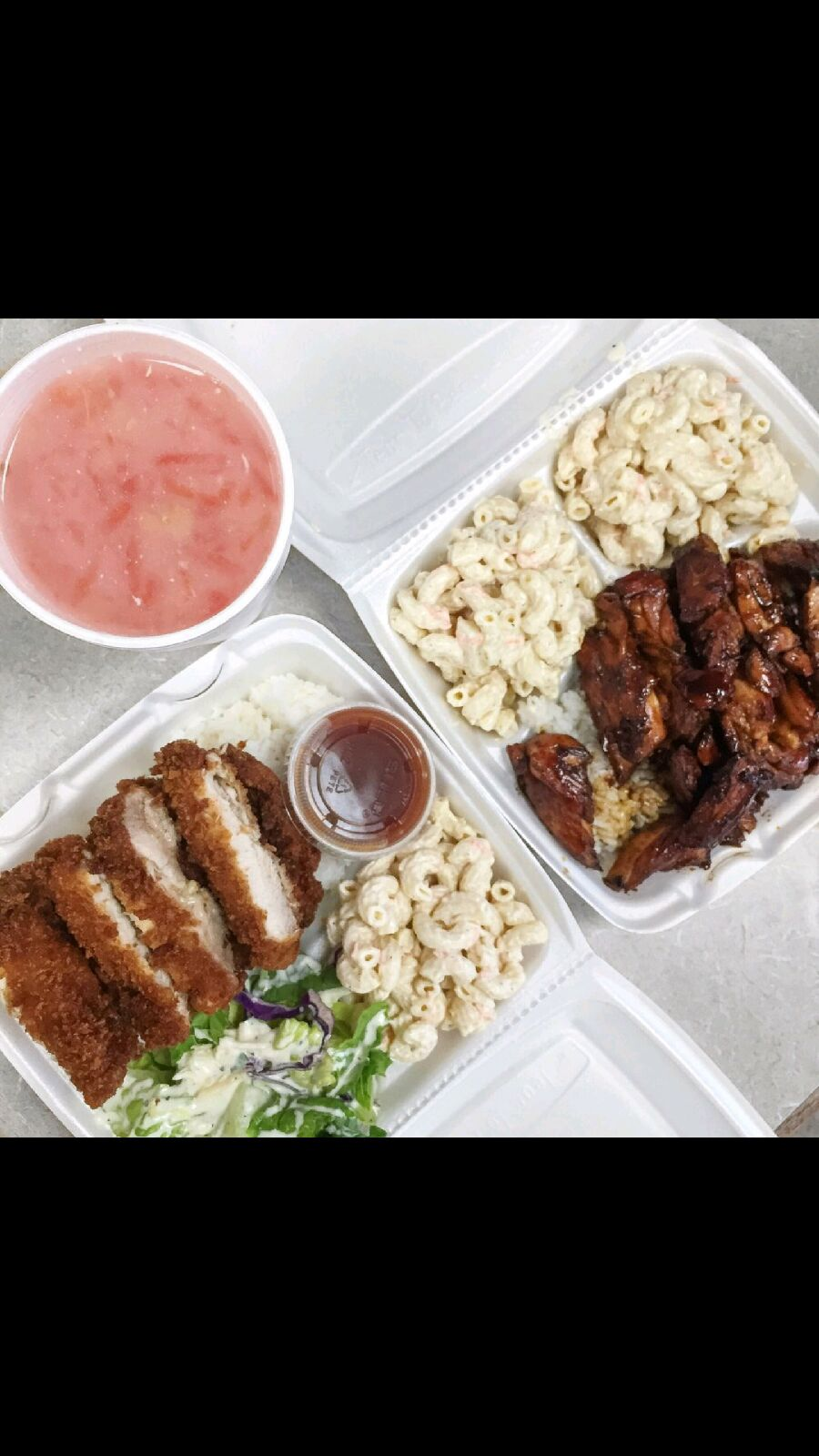 Hawaiian Lunch Plates