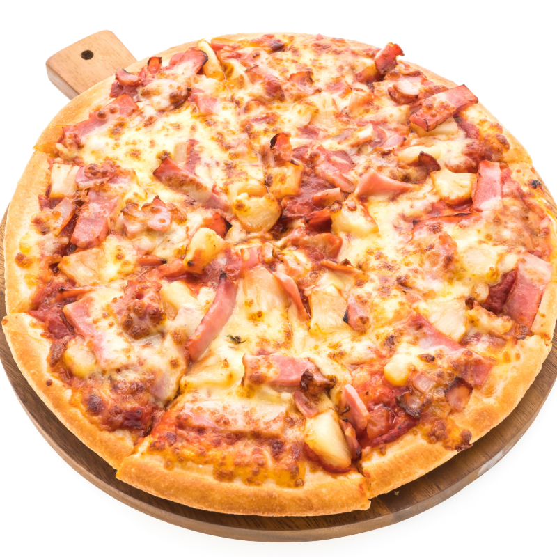 Hawaiian - Round Pizza Image