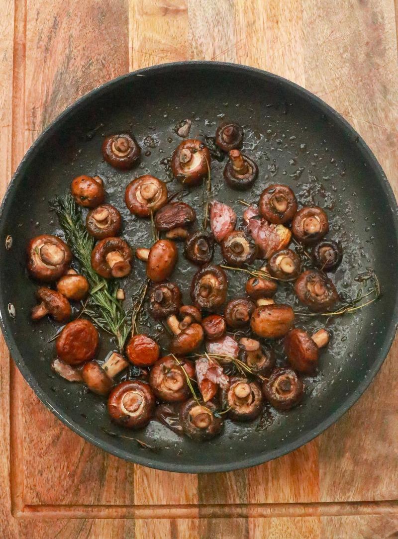 Pan Fried Mushrooms