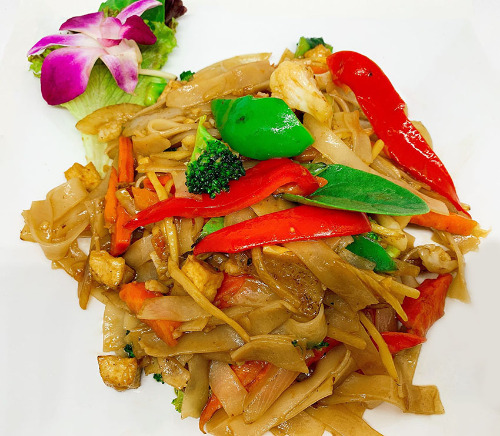 Spicy Basil Noodles (Pad Kee Mow/Drunken Noodles) Image