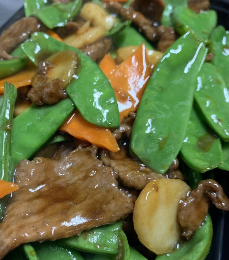 Beef with Snow Peas Pods Image