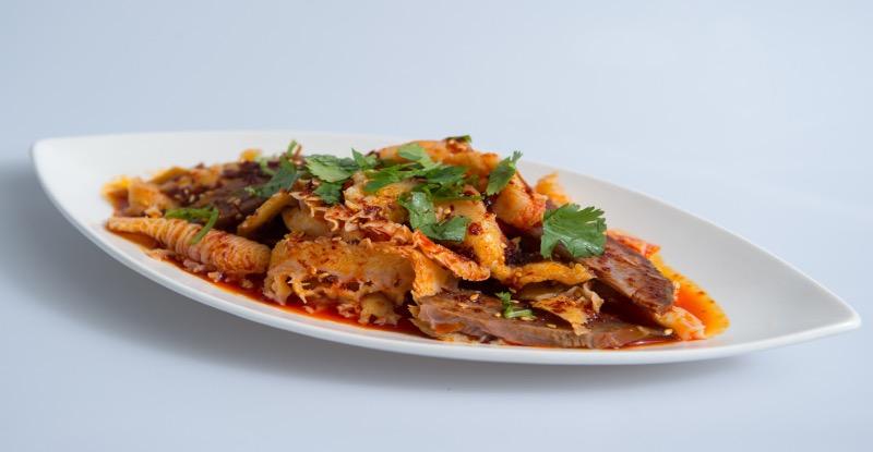 A 4. Ox Tongue & Tripe w. Spicy Pepper Sauce