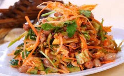 A 7. Cucumber, Potato, Peanuts Salad Image
