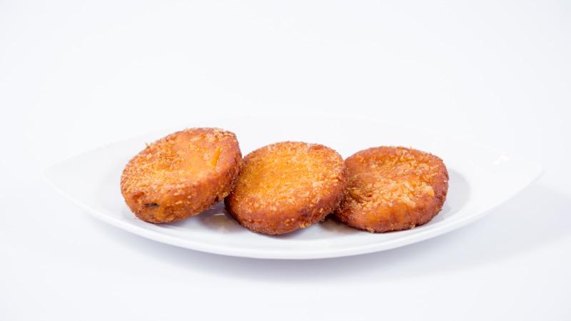 E 2. Fried Pumpkin Mochi (4pc) Image