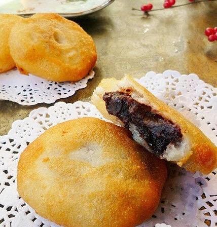 E 7. Red Bean Paste Cake (Deep Fried) 4 pcs