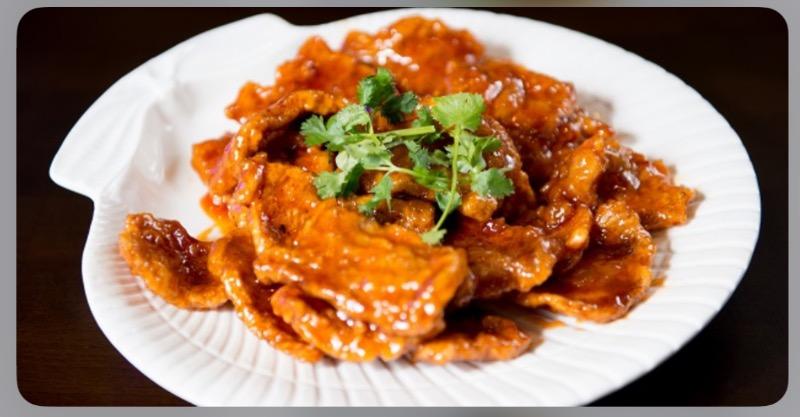 M 8. Crispy Pork in Sweet & Sour Sauce Image