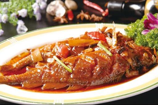 S 9. Braised Whole Yellow Fish w. Sweet Chili Sauce Image