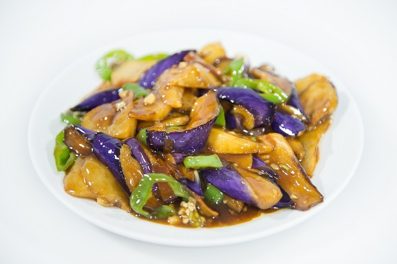 V 4. Sauteed Potato, Green Pepper & Eggplant