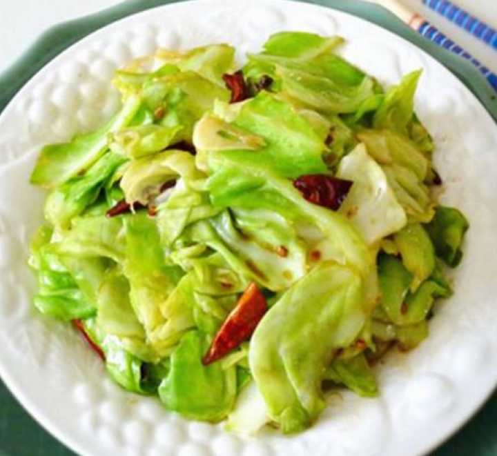 V24. Stir-Fried Chinese Cabbage w. Chili Pepper Image