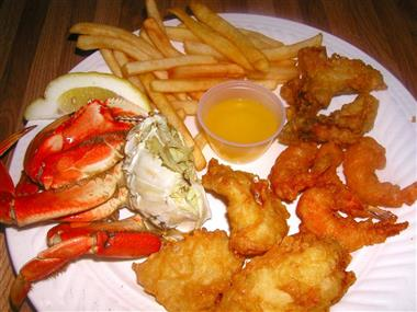 Seafood Combo (3 Shrimp & 2 Fish) Dinner