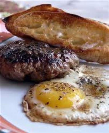 Burger & Eggs Image