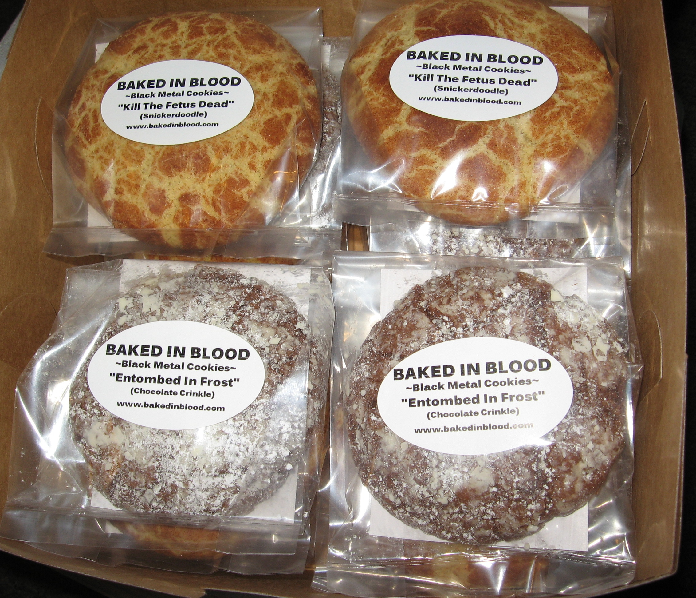 1 Dozen Black Metal Cookies Image
